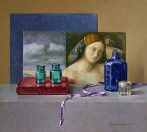 Blauw flesje voor Bellini