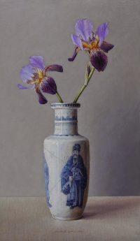 Chinese vaas met iris