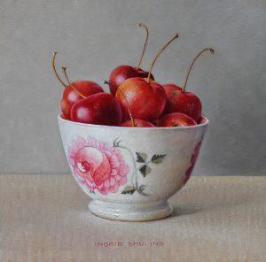 Rode appeltjes in rozenkommetje